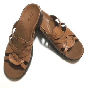 Clarks Leather Sandals Brown 10M